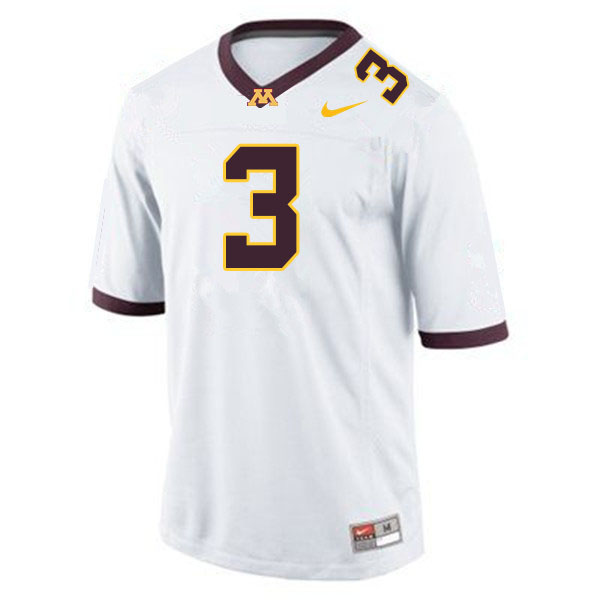 Men #3 MJ Anderson Minnesota Golden Gophers College Football Jerseys Sale-White