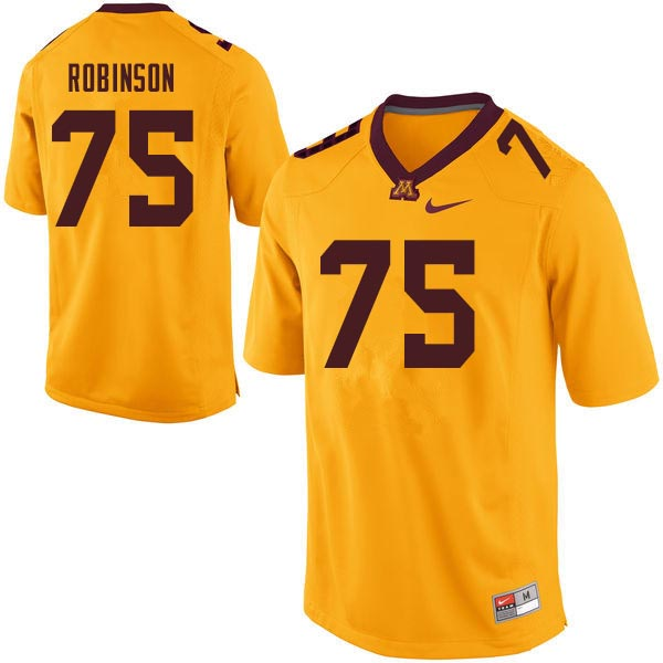 Men #75 Malcolm Robinson Minnesota Golden Gophers College Football Jerseys Sale-Gold