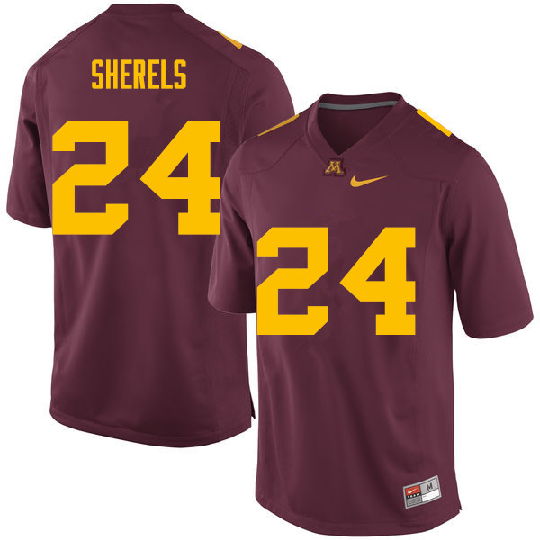 Men #24 Marcus Sherels Minnesota Golden Gophers College Football Jerseys Sale-Maroon