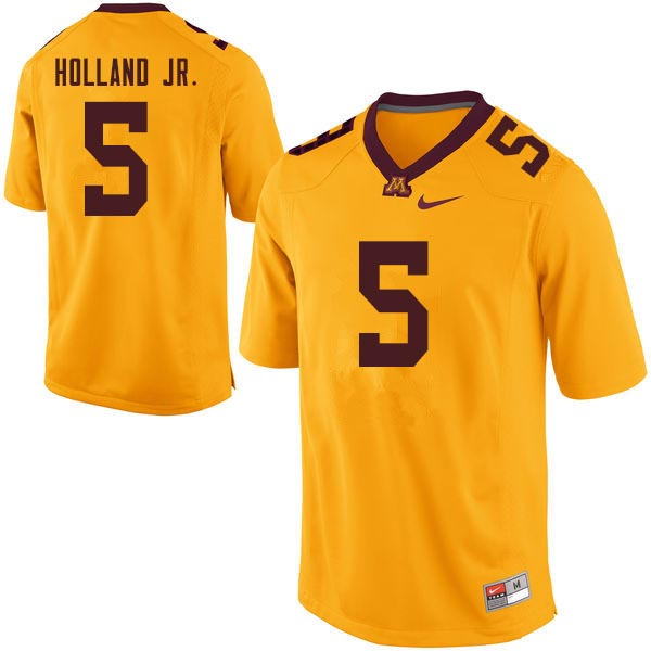 Men #5 Melvin Holland Jr. Minnesota Golden Gophers College Football Jerseys Sale-Gold
