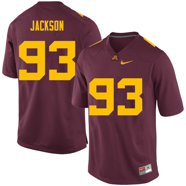 Men #93 Merrick Jackson Minnesota Golden Gophers College Football Jerseys Sale-Maroon