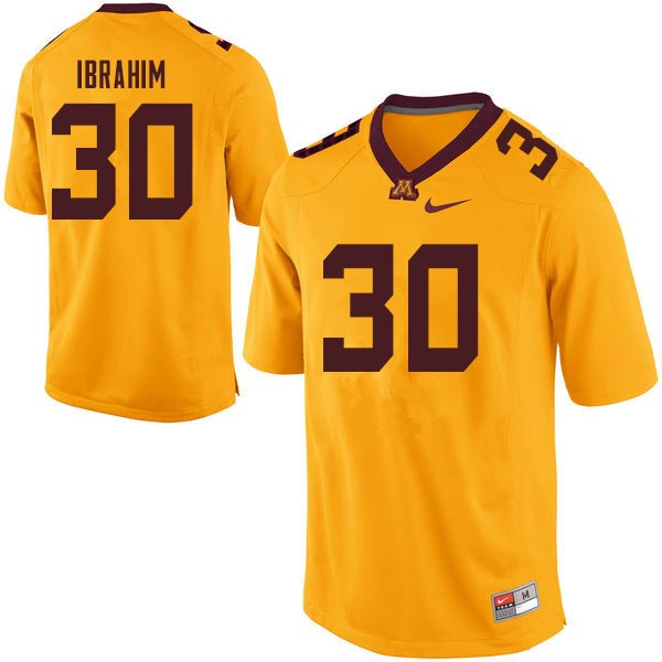 Men #30 Mohamed Ibrahim Minnesota Golden Gophers College Football Jerseys Sale-Gold