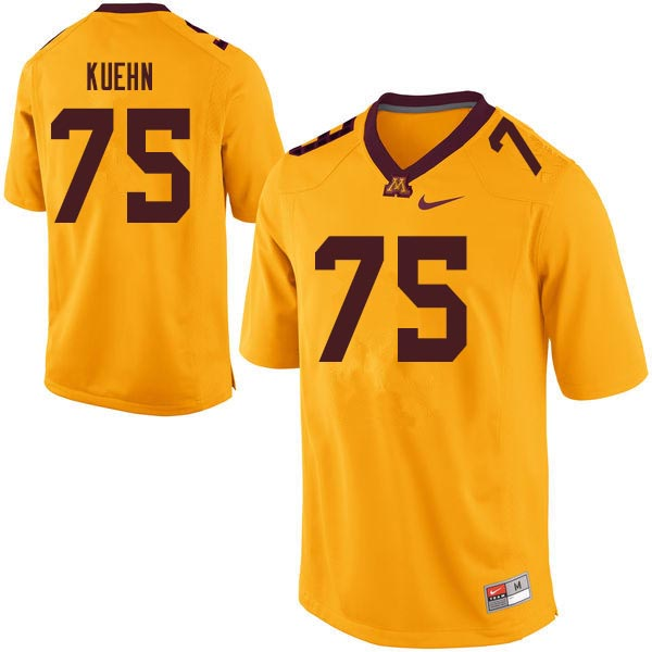 Men #75 Noah Kuehn Minnesota Golden Gophers College Football Jerseys Sale-Gold