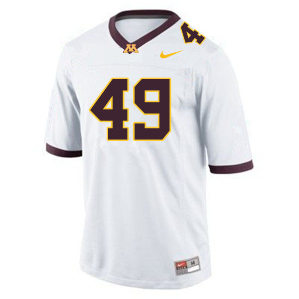 Men #49 Pete Bercich Minnesota Golden Gophers College Football Jerseys Sale-White