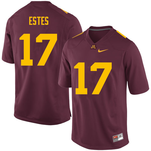 Men #17 Rey Estes Minnesota Golden Gophers College Football Jerseys Sale-Maroon
