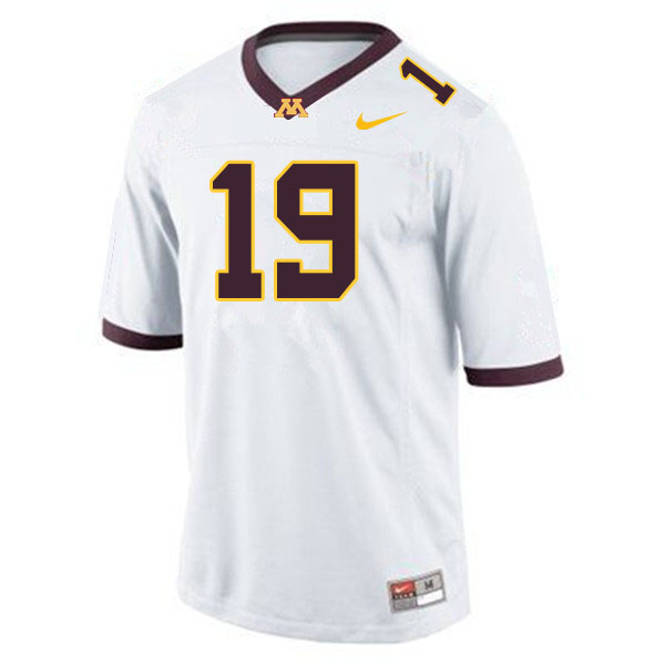 Men #19 Samuel Pickerign Minnesota Golden Gophers College Football Jerseys Sale-White