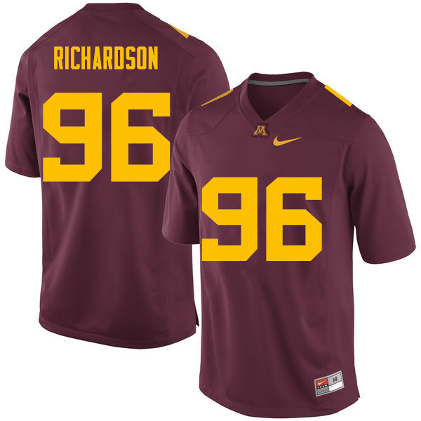 Men #96 Steven Richardson Minnesota Golden Gophers College Football Jerseys Sale-Maroon