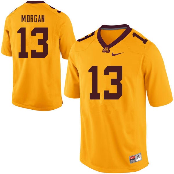 Men #13 Tanner Morgan Minnesota Golden Gophers College Football Jerseys Sale-Gold