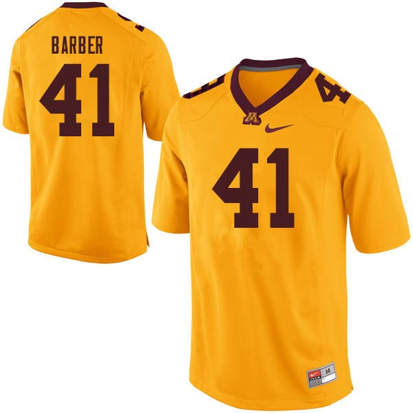 Men #41 Thomas Barber Minnesota Golden Gophers College Football Jerseys Sale-Gold