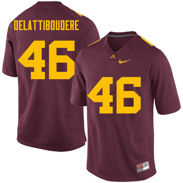 Men #46 Winston DeLattiboudere Minnesota Golden Gophers College Football Jerseys Sale-Maroon