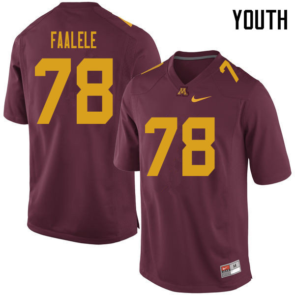 Youth #78 Daniel Faalele Minnesota Golden Gophers College Football Jerseys Sale-Maroon