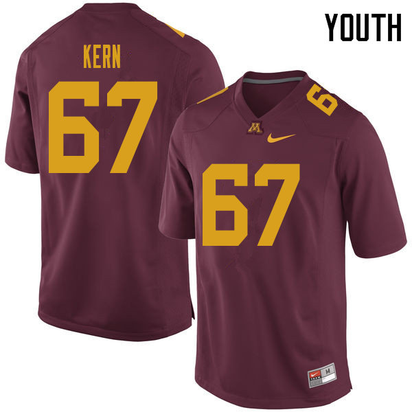 Youth #67 Jack Kern Minnesota Golden Gophers College Football Jerseys Sale-Maroon