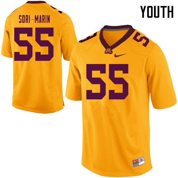 Youth #55 Mariano Sori-Marin Minnesota Golden Gophers College Football Jerseys Sale-Yellow