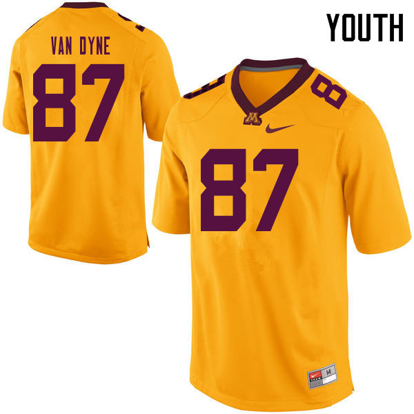 Youth #87 Yale Van Dyne Minnesota Golden Gophers College Football Jerseys Sale-Yellow