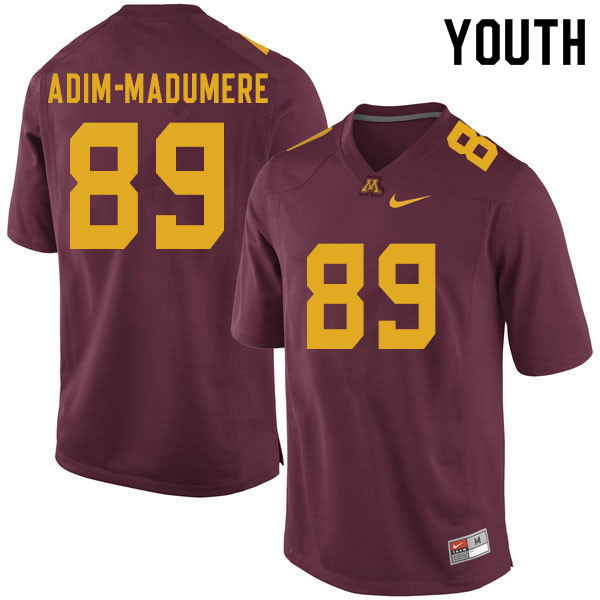 Youth #89 Nnamdi Adim-Madumere Minnesota Golden Gophers College Football Jerseys Sale-Maroon