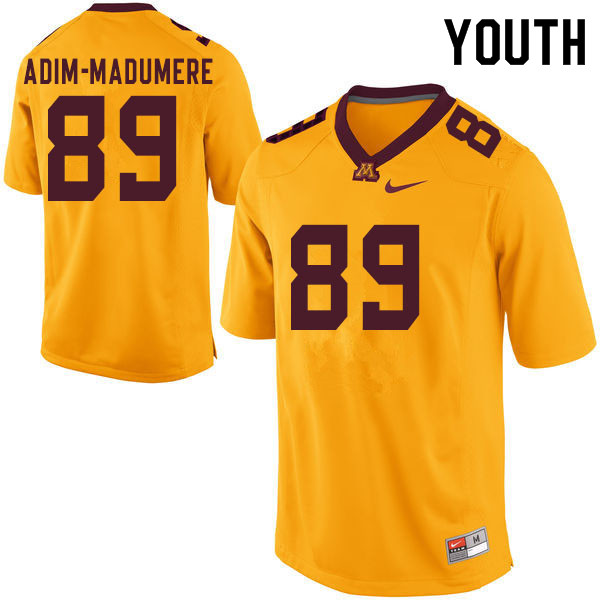 Youth #89 Nnamdi Adim-Madumere Minnesota Golden Gophers College Football Jerseys Sale-Yellow