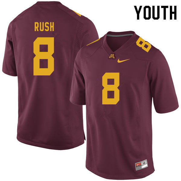 Youth #8 Thomas Rush Minnesota Golden Gophers College Football Jerseys Sale-Maroon
