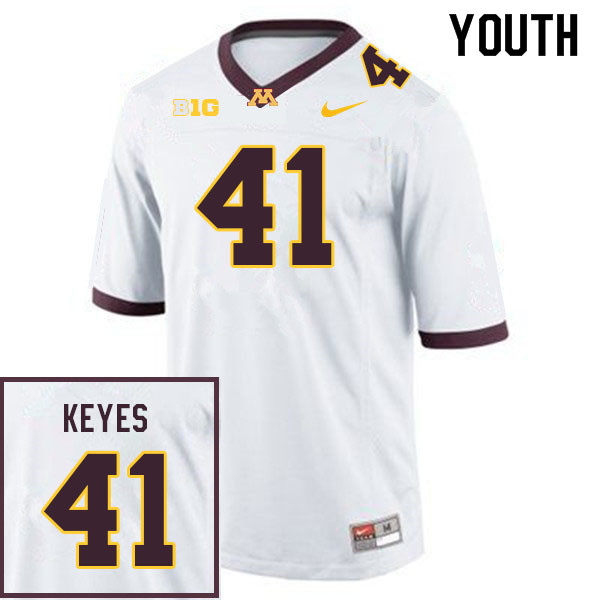 Youth #41 Connor Keyes Minnesota Golden Gophers College Football Jerseys Sale-White
