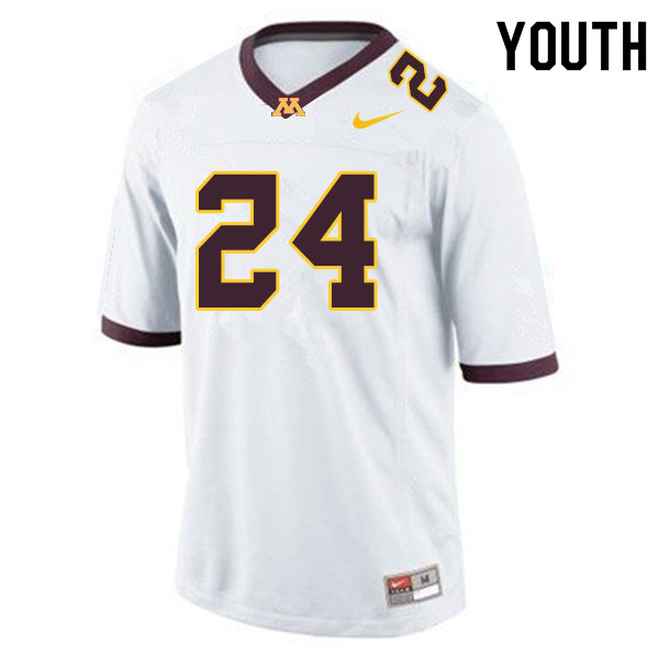 Youth #24 Abner Dubar Minnesota Golden Gophers College Football Jerseys Sale-White