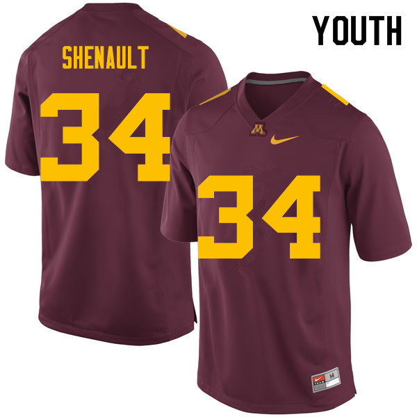 Youth #34 Antonio Shenault Minnesota Golden Gophers College Football Jerseys Sale-Maroon