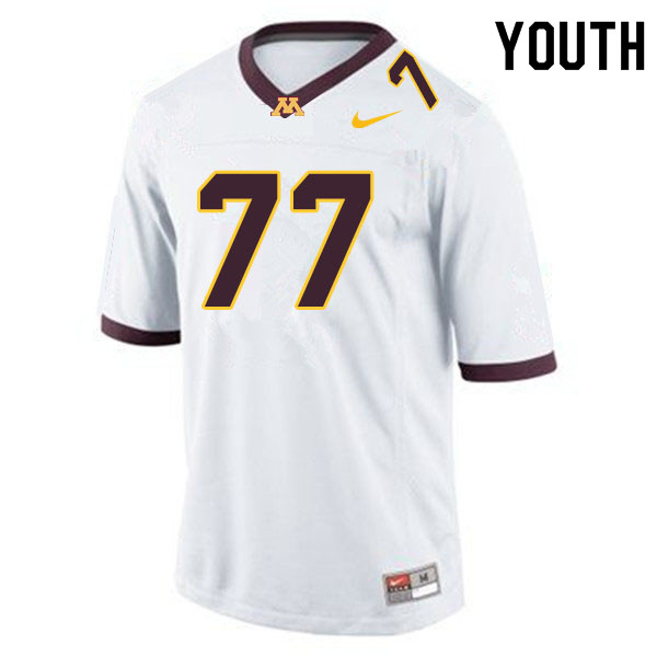 Youth #77 Blaise Andries Minnesota Golden Gophers College Football Jerseys Sale-White