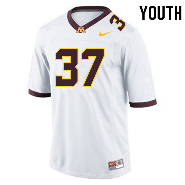 Youth #37 Brady Weeks Minnesota Golden Gophers College Football Jerseys Sale-White