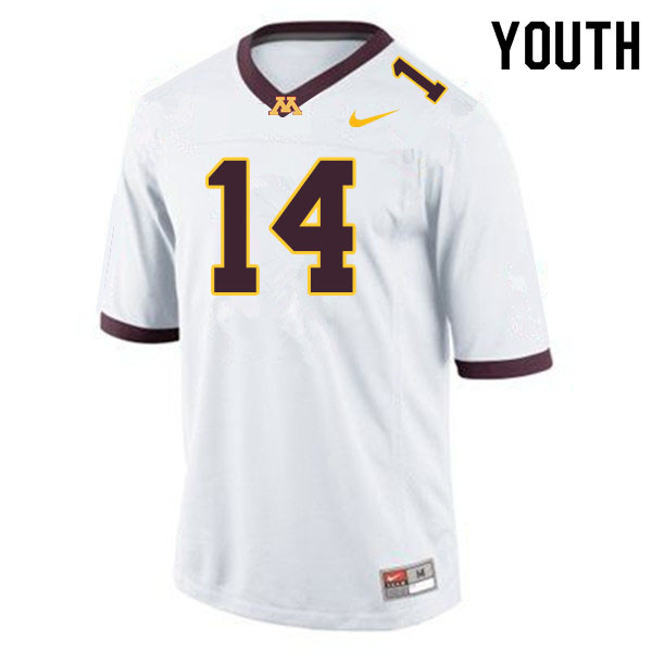 Youth #14 Braelen Oliver Minnesota Golden Gophers College Football Jerseys Sale-White