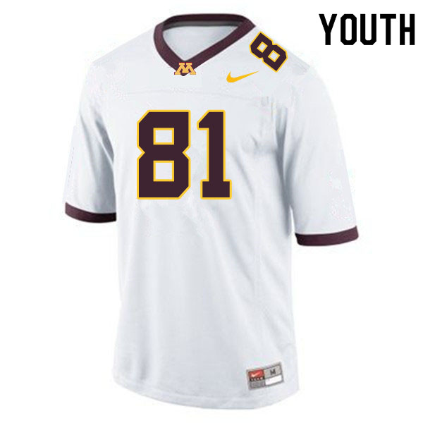 Youth #81 Brock Annexstad Minnesota Golden Gophers College Football Jerseys Sale-White