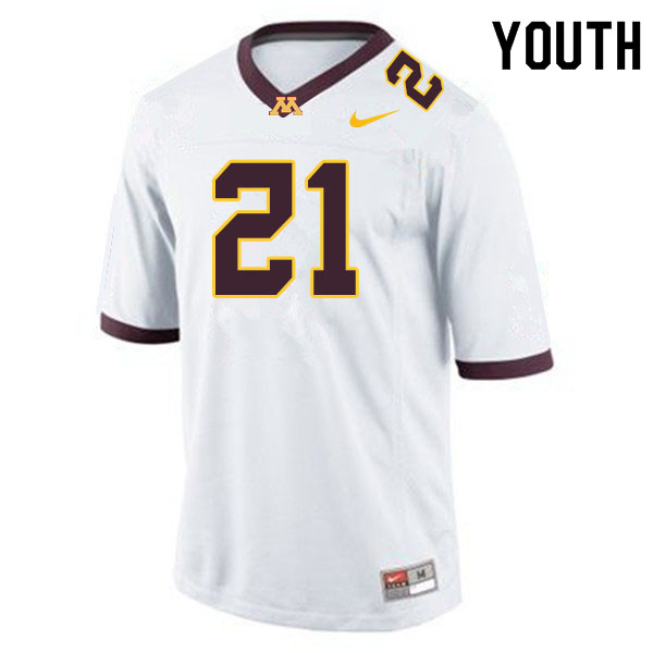 Youth #21 Bryce Williams Minnesota Golden Gophers College Football Jerseys Sale-White