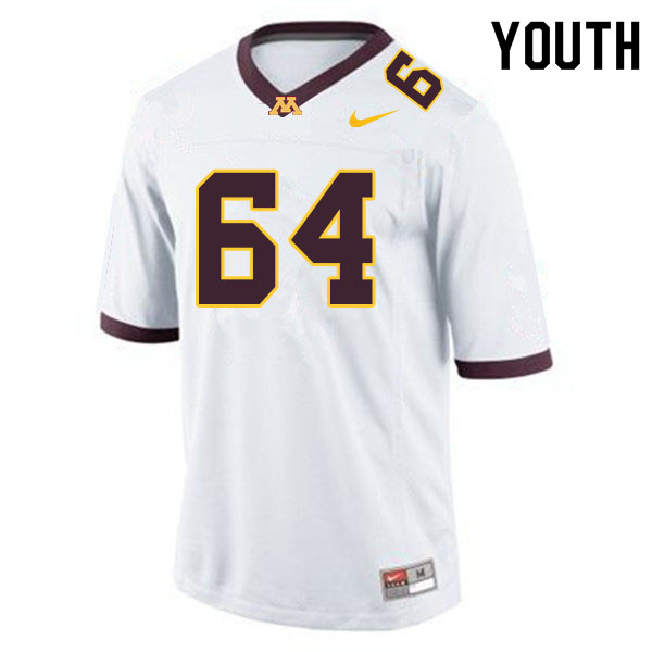 Youth #64 Conner Olson Minnesota Golden Gophers College Football Jerseys Sale-White