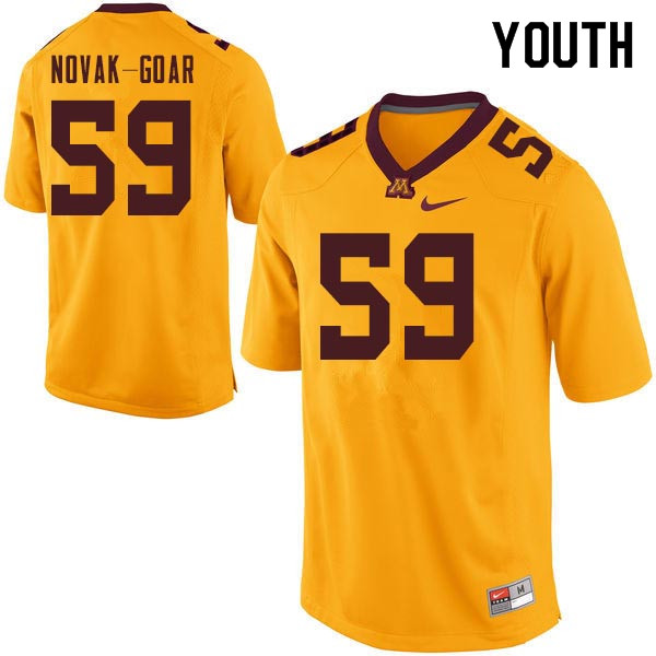 Youth #59 Connor Novak-Goar Minnesota Golden Gophers College Football Jerseys Sale-Gold
