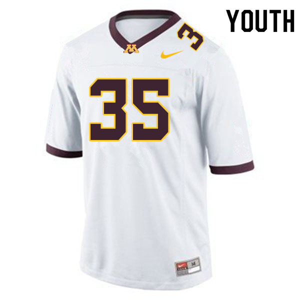 Youth #35 Danny Anderson Minnesota Golden Gophers College Football Jerseys Sale-White