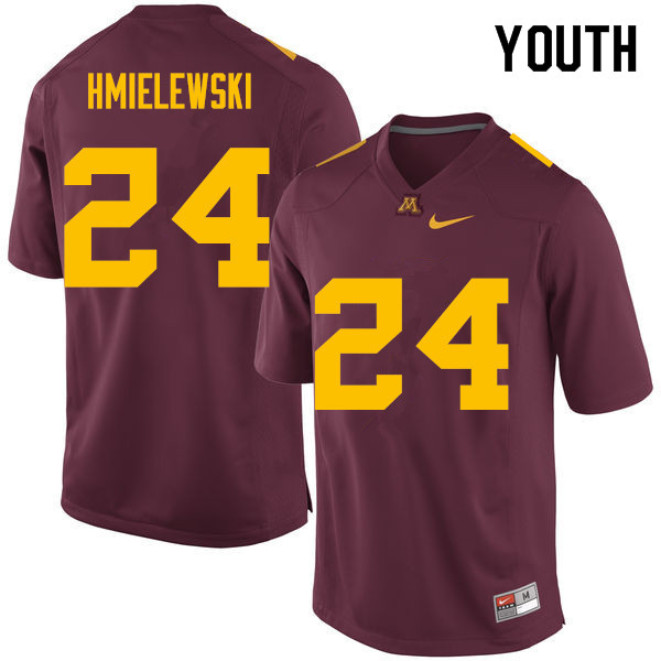 Youth #24 Drew Hmielewski Minnesota Golden Gophers College Football Jerseys Sale-Maroon