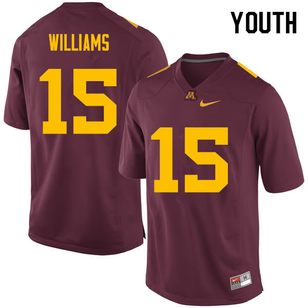 Youth #15 Everett Williams Minnesota Golden Gophers College Football Jerseys Sale-Maroon