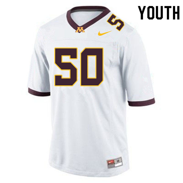 Youth #50 JJ Guedet Minnesota Golden Gophers College Football Jerseys Sale-White