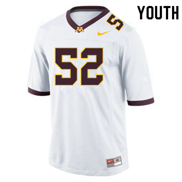Youth #52 Jamaal Teague Minnesota Golden Gophers College Football Jerseys Sale-White