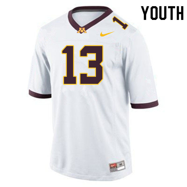 Youth #13 James Gordon IV Minnesota Golden Gophers College Football Jerseys Sale-White