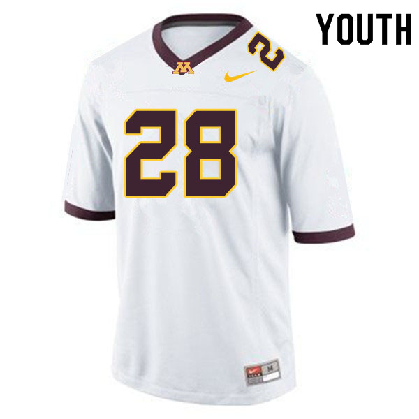 Youth #28 Jason Williamson Minnesota Golden Gophers College Football Jerseys Sale-White