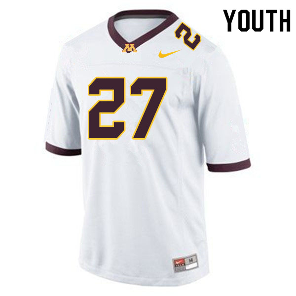 Youth #27 Jimmy Buck Minnesota Golden Gophers College Football Jerseys Sale-White