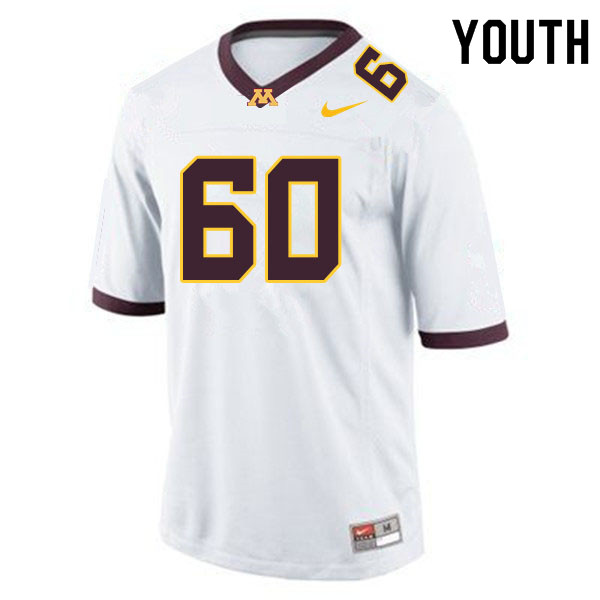 Youth #60 John Michael Schmitz Minnesota Golden Gophers College Football Jerseys Sale-White