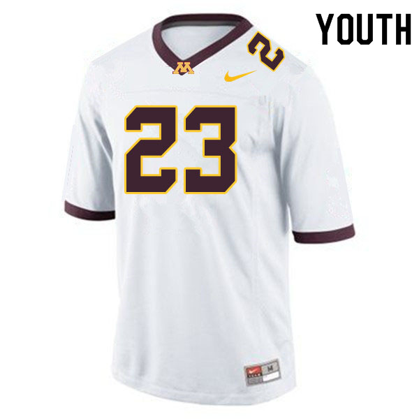 Youth #23 Jordan Howden Minnesota Golden Gophers College Football Jerseys Sale-White