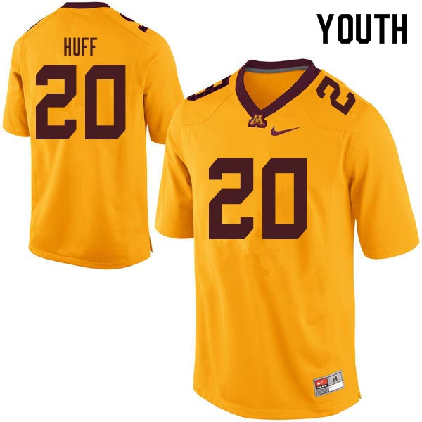 Youth #20 Julian Huff Minnesota Golden Gophers College Football Jerseys Sale-Gold