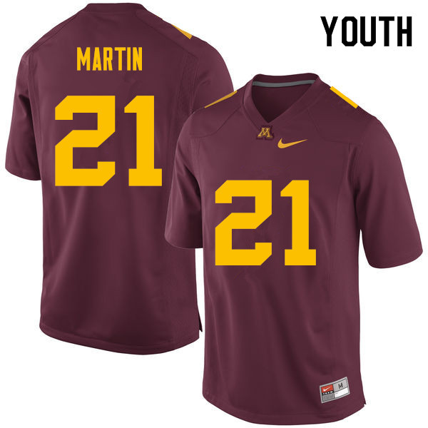 Youth #21 Kamal Martin Minnesota Golden Gophers College Football Jerseys Sale-Maroon