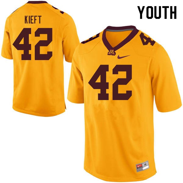 Youth #42 Ko Kieft Minnesota Golden Gophers College Football Jerseys Sale-Gold