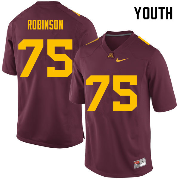 Youth #75 Malcolm Robinson Minnesota Golden Gophers College Football Jerseys Sale-Maroon
