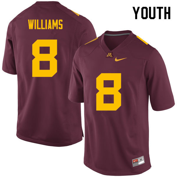 Youth #8 Mark Williams Minnesota Golden Gophers College Football Jerseys Sale-Maroon