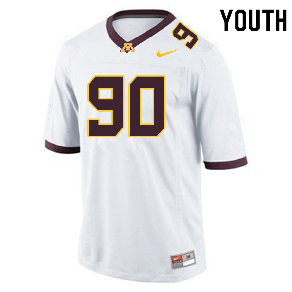 Youth #90 Matthew Stephenson Minnesota Golden Gophers College Football Jerseys Sale-White