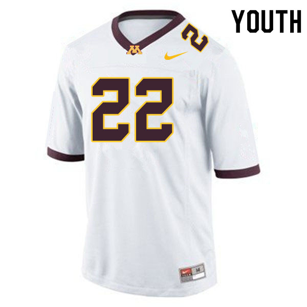 Youth #22 Mike Brown-Stephens Minnesota Golden Gophers College Football Jerseys Sale-White