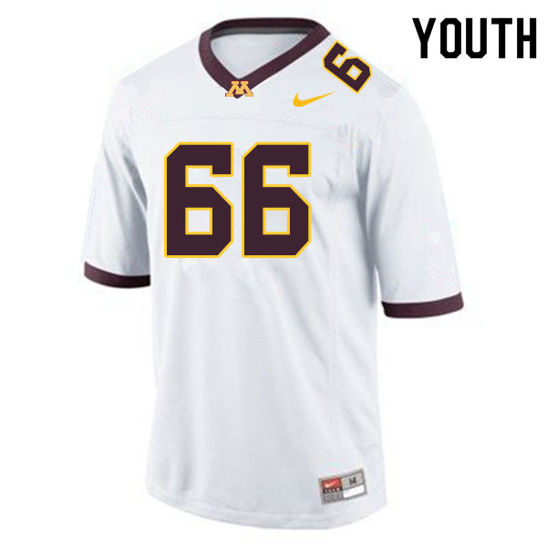 Youth #66 Nathan Boe Minnesota Golden Gophers College Football Jerseys Sale-White