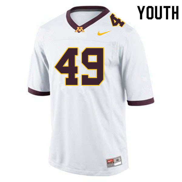 Youth #49 Pete Bercich Minnesota Golden Gophers College Football Jerseys Sale-White